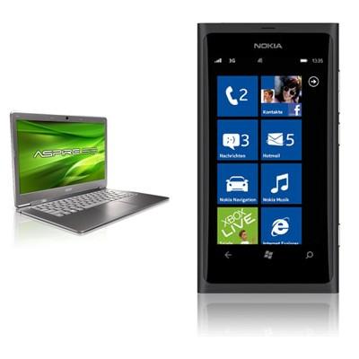 Ultrabook Acer Aspire S3 + Nokia Lumia 800