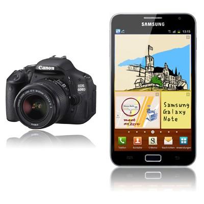 Canon EOS 600D + Samsung Galaxy Note N7000