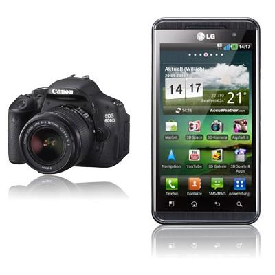 Canon EOS 600D + LG P920 Optimus 3D