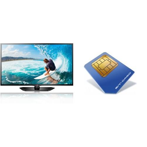 42 Zoll LCD-TV LG LD420 + Simkarte/Flatrate