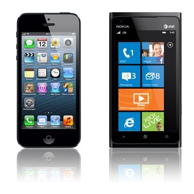 iPhone 5 16GB schwarz + Nokia Lumia 900 mit Partnervertrag