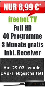 Sonder-Aktion freenet TV mit Receiver
