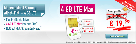 MagentaMobil S Young 19,95 € Aktion